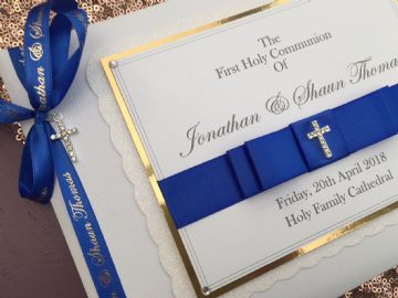 Personalised Boys First Communion Guest Book